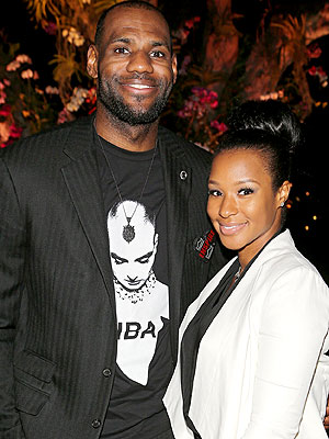 LeBron James and Fiance Savannah Brinson in Coral Gables
