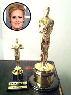 Adele Presents Mini Oscar to Her 'Best Son' | Adele