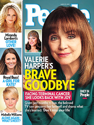 Mary Tyler Moore Reacts to Valerie Harper's Cancer Diagnosis| Health, Rhoda, The Mary Tyler Moore Show, Valerie Harper Cover, Mary Tyler Moore, Valerie Harper
