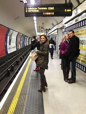 Geri Halliwell Tweets About Taking the Tube