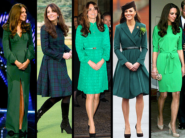 Kate St. Patrick&#39;s Day Looks Go Green