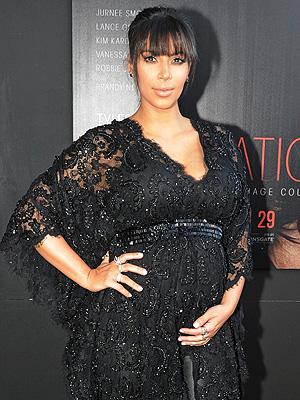 Kim Kardashian Pregnancy Temptation Premiere