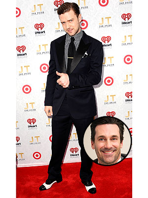 Jon Hamm, Justin Timberlake