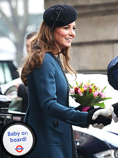 &#39;Baby on Board!&#39; Button Bestowed on Kate | Kate Middleton