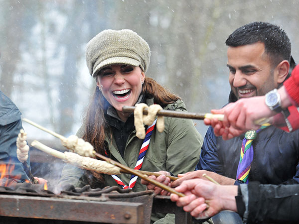 Kate Visits Cubs Scouts for Training Session