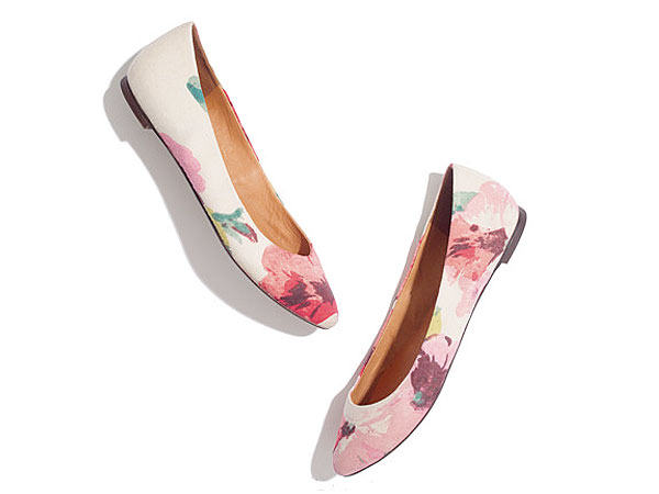 shoes 600x450 What We're Buying (or Renting!) Now: Floral Flats and Shimmery Sequins