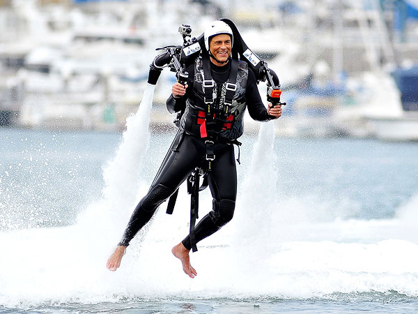 Rob Lowe Straps On a Jetpack and Goes Flying!