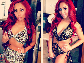 Snooki Shows Off Her Beach Body in Two Wild Bikinis | Nicole Polizzi