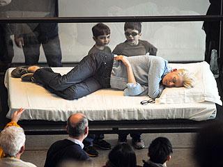 Sarah Jessica Parker Checks On a Sleeping Tilda Swinton   Tilda Swinton