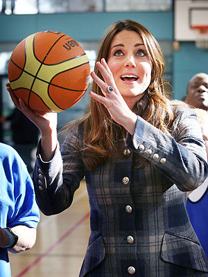 Kate Shoots Hoops – In Heels!