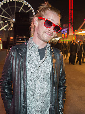 Macaulay Culkin Attends Foire du Trone in Paris