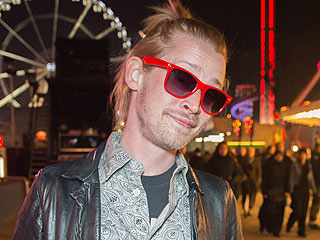 Macaulay Culkin Pops Up in Paris (in Bright Red Shades at Night!) | Macaulay Culkin