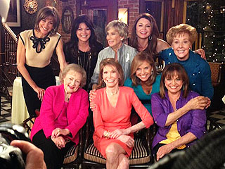 Valerie Harper Reunites with Mary Tyler Moore Cast on Hot in Cleveland | Betty White, Cloris Leachman, Jane Leeves, Valerie Bertinelli, Valerie Harper, Wendie Malick