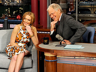 VIDEO: Lindsay Lohan Tears Up on Letterman After Rehab Talk