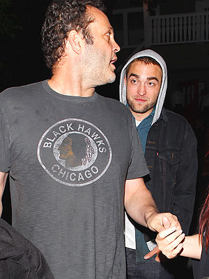 Robert Pattinson & Vince Vaughn Step Out Together in Hollywood