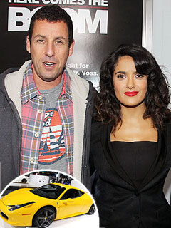 Why Is Adam Sandler Promising Salma Hayek a Ferrari? | Adam Sandler, Salma Hayek
