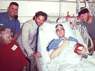 Bradley Cooper Visits Bombing Victim Who Lost Legs | Bradley Cooper