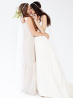 Which Girls Stars Is Kissing Another Woman in New Bridal Ad?