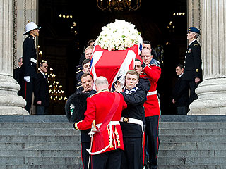 Thousands Camp Out Overnight for Margaret Thatcher's Funeral (Photos)
