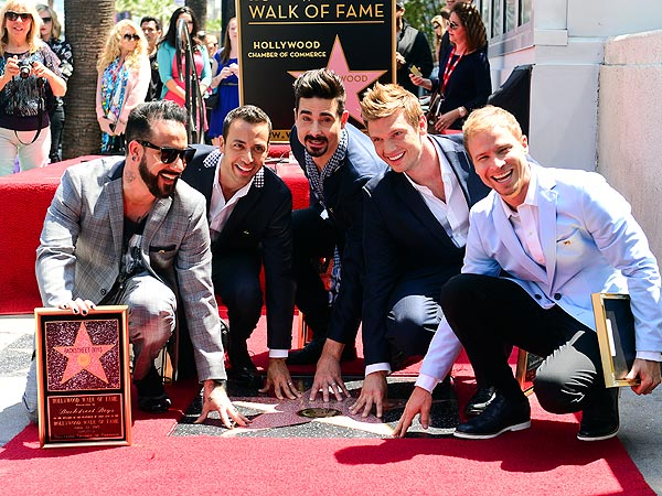 Backstreet Boys Get Star on Hollywood Walk of Fame