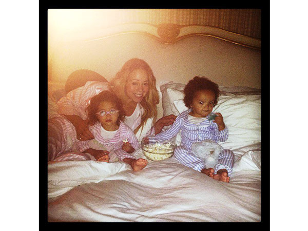 Mariah Carey Twins Pajama Party