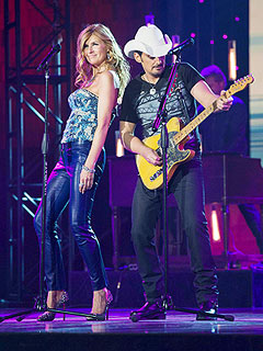 FIRST LOOK: Brad Paisley Joins Connie Britton on Set of Nashville | Brad Paisley