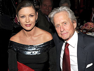 Reunited? Michael Douglas & Catherine Zeta-Jones Hold Hands at Restaurant