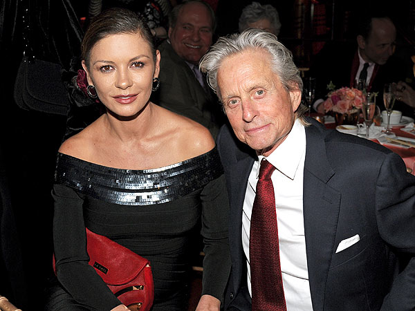 Michael Douglas Supports Catherine Zeta-Jones in Return to Treatment