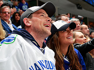 Cory Monteith, Lea Michele Cheer Canucks in His Hometown | Cory Monteith, Lea Michele