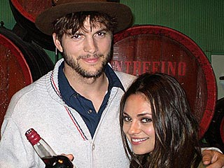 Drink Up! Ashton & Mila Visit Winery in Spain | Ashton Kutcher, Mila Kunis