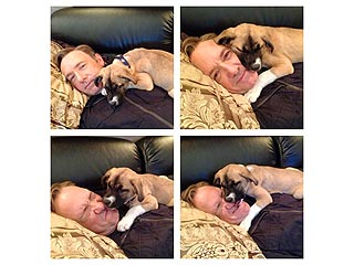 Kevin Spacey Rescues Boston! And Shares Adorable Pics Cuddling Her | Kevin Spacey