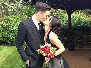 All About Shenae Grimes's Black Wedding Gown
