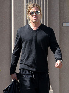 PHOTO: Brad Pitt Steps Out in L.A. After Angelina&#39;s Mastectomy Announcement | Brad Pitt