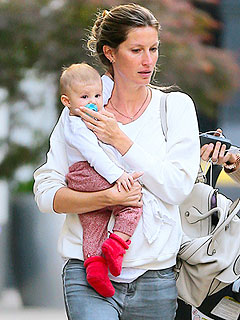 Gisele B&#252;ndchen & Baby Vivian Take a Stroll in N.Y.C.