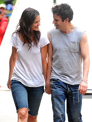 Katie Holmes & Costar Luke Kirby Get Close On Set