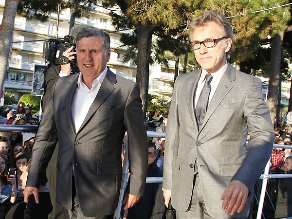 Christoph Waltz at Cannes Film Festival, Rushed Off Talk Show