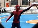 Is That Andrew Garfield in Spider-Man Garb Shooting Hoops with Kids?