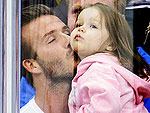 Adorable! David Beckham Caught on 'KissCam' Smooching Daughter Harper | David Beckham