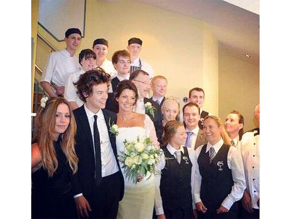 Harry Styles Serves as Best Man at His Mother's Wedding