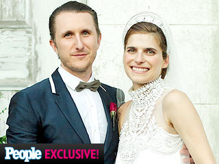 Lake Bell And Scott Campbell Wedding Dress