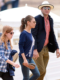 PHOTO: Ashton & MIla Hit the Beach with Princess Beatrice | Ashton Kutcher, Mila Kunis, Princess Beatrice