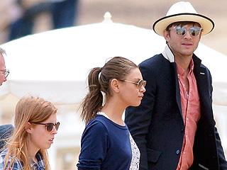 PHOTO: Ashton & MIla Hit the Beach with Princess Beatrice | Ashton Kutcher, Mila Kunis, Princess Beatrice