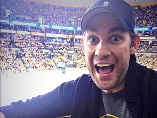 John Krasinski Cheers Boston Bruins to Finals Sweep | John Krasinski