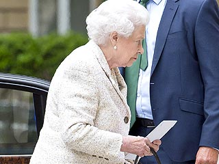 Queen Visits Prince Philip in the Hospital
