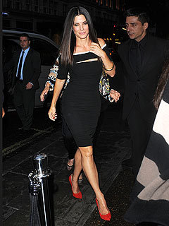 Wow! Sandra Bullock Works Sexy Red Heels in London | Sandra Bullock