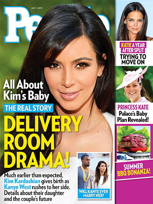 Kim Kardashian's Dramatic Delivery: PEOPLE Magazine Cover