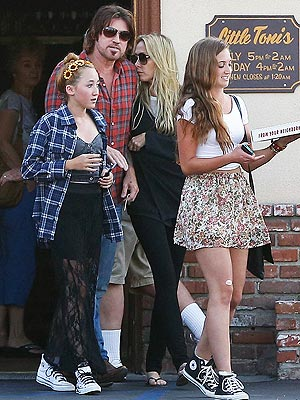 Miley Cyrus's Parents Reunite for a Family Lunch
