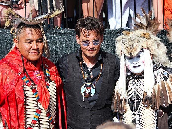 Johnny Depp Pulls a Brad Pitt, Surprises Fans at Lone Ranger Screening| The Lone Ranger, World War Z, Good Deeds, Movie News, Brad Pitt, Johnny Depp