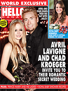 First Look! Avril Lavigne & Chad Kroeger's Official Wedding Photo | Avril Lavigne