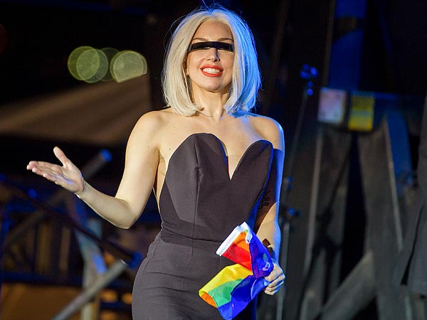 Lady Gaga Makes Gay Pride Rally Debut After Hip Surgery